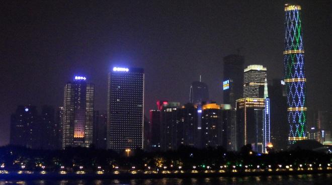 Die Skyline von Guangzhou ist Symbol für das bisher schnelle Wachstum