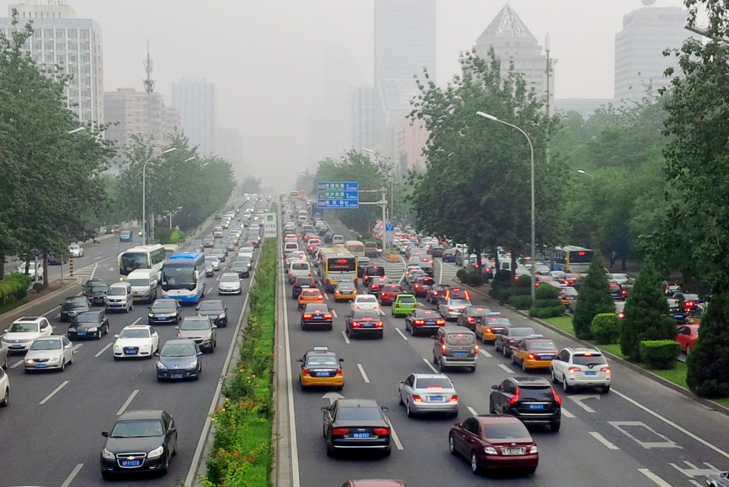Autoverkehr in China: Fahren macht im Stau keine Freude. Foto: fmk